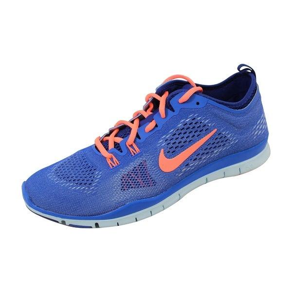 Nike Women's Free 5.0 TR Fit 4 Hyper Cobalt/Bright Mango-Deep Royal Blue 629496-401 Size 11