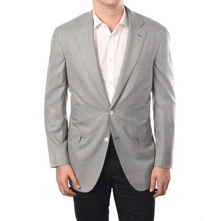 Brioni Men Two-Button Wool-Silk Blend Sport Jacket Blazer Grey