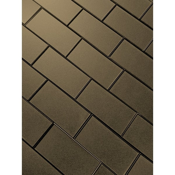 "Miseno MT-WHSFOG0306-BR Forever - 3"" x 6"" Rectangle Wall Tile - Semi-Gloss Visual - Bronze"