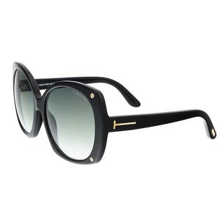 Tom Ford FT0362/S 01B GABRIELLA Black Square Sunglasses - 59-16-140