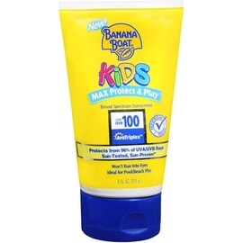 Banana Boat Kids Max Protect & Play Broad Spectrum Sunscreen SPF 100 4 oz