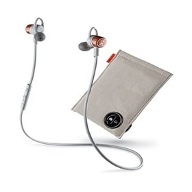 Refurbished Plantronics Backbeat GO 3 Copper Grey with Charge Case Stereo Bluetooth Headset