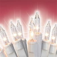 Clear White Mini Twinkling Icicle Christmas Lights - White Wire&#44