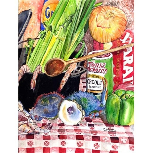 28 x 40 in  Gumbo and Potato Salad House Size Canvas Flag
