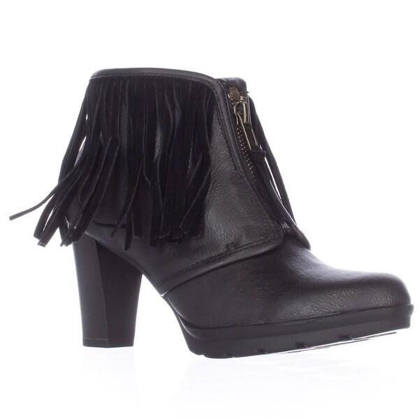 AL35 Kallee Fringe Ankle Boots, Black/Black - 5.5 us / 36.5 eu