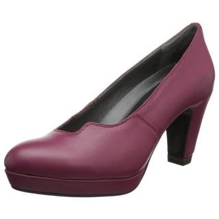 Oh! Womens Raja Platform Heels Leather Pumps