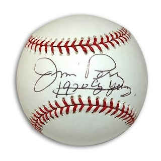 Autographed Jim Perry Baseball inscribed 1970 Cy Young