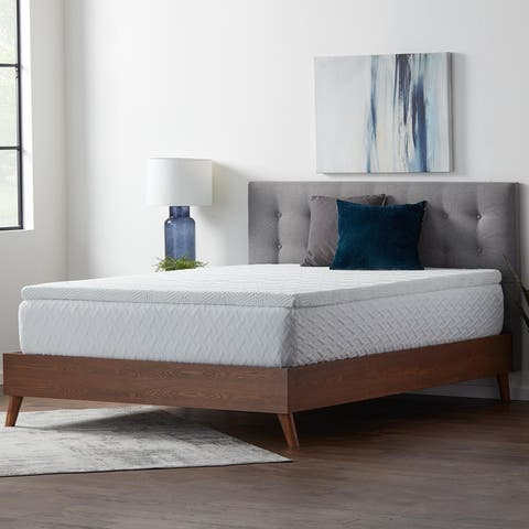 Lucid Comfort Collection 2 Inch Gel and Aloe Memory Foam Topper