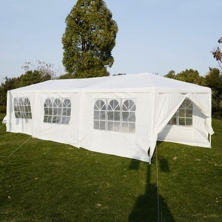 Costway 10u0027x30u0027Heavy Duty Gazebo Canopy Outdoor Party Wedding Tent