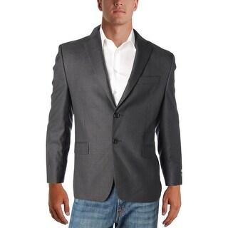 Lauren Ralph Lauren Mens Two-Button Suit Jacket Wool Pattern - 42S