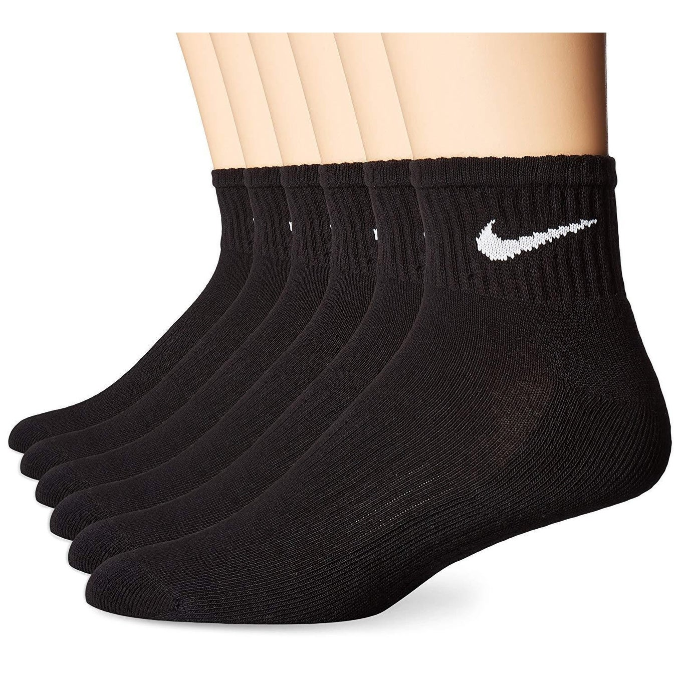 buena venta precios baratass gran surtido Shop Nike Performance Cotton Cushioned Quarter Socks - (6 Pairs ...