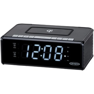 JENSEN(R) QiCR-200 Dual Alarm Clock Radio with Qi(R) Charging