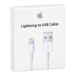 Apple iPhone lightning to USB Cable with retail Box