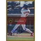 Jason Grabowski Charlotte Rangers Rangers Affiliate 2000 Just Memorabilia Autographed Card Minor