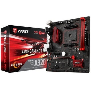Msi A320m Gaming Pro Desktop Motherboard - Amd Chipset - Socket Am4 - 1 Pack