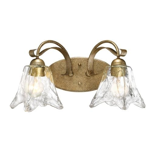 "Millennium Lighting 7452 Chatsworth 2 Light 17"" Wide Vanity Light with Fluted Clear Glass Shades"
