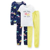 Carter's Little Girls' 4 Piece PJ Set (Toddler/Kid) - Too Cool - 5 - too cool