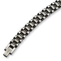 Chisel Brushed and Polished Stainless Steel Bracelet - 8.5 Inches