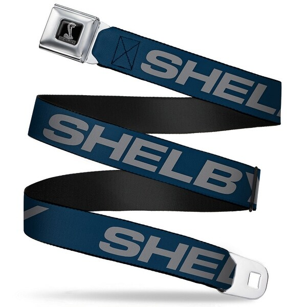 Shelby Tiffany Box Full Color Black Silver Fade Shelby Bold Blue Gray Seatbelt Belt