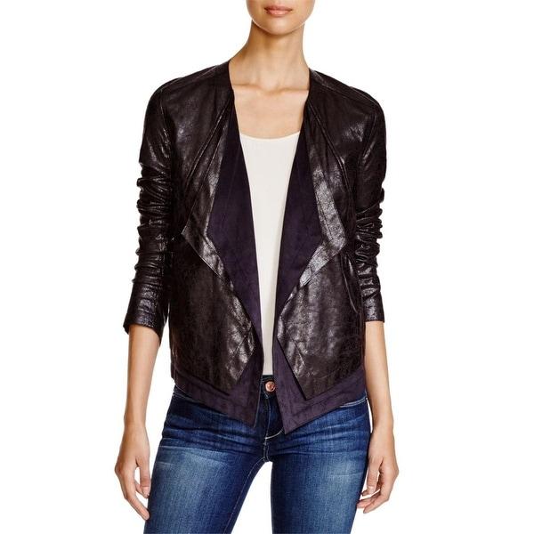 Lysse Womens Open-Front Blazer Colorblock Long Sleeves