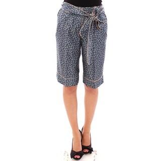 Dolce & Gabbana Dolce & Gabbana Blue PAJAMA silk shorts