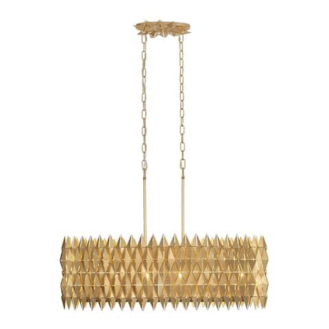 Varaluz Forever 6-light French Gold Linear Pendant