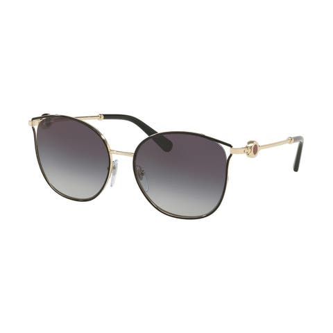 Bvlgari BV6114 20188G 55 Black/pale Gold Woman Cat Eye Sunglasses