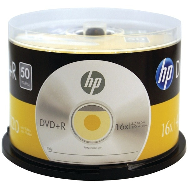 Hp Dr16050Cb 4.7Gb 16X Dvd+Rs (50-Ct Cake Box Spindle)