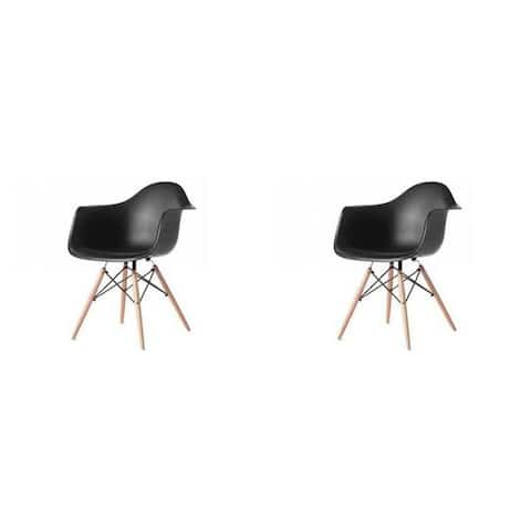 Kids Favourite Eiffel Bucket Dining Chair with Wooden Legs(set of Two)