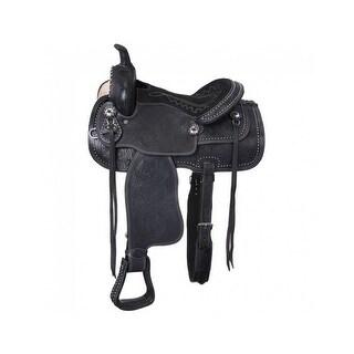 "Tough-1 Western Saddle Miniature Braden Trail Suede Seat 8"""
