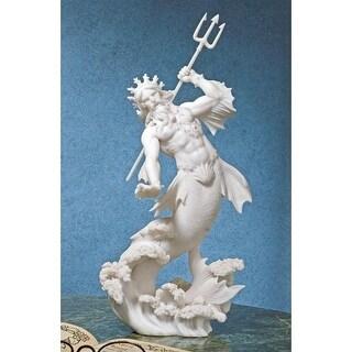 Design Toscano Triton, God of the Sea Bonded Marble Statue