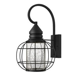 "Hinkley Lighting 2255 19.5"" Height 1 Light Dark Sky Lantern Outdoor Wall Sconce from the New Castle Collection - Black"