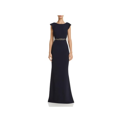 Adrianna Papell Womens Evening Dress Crepe Embellished