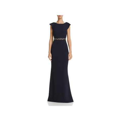 64652f1e0c0 Adrianna Papell Womens Evening Dress Crepe Embellished