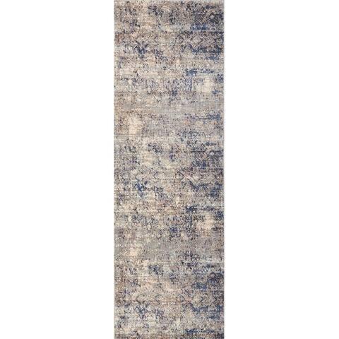 Alexander Home Contessa Boho Abstract Distressed Rug