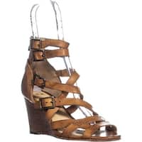 FRYE Rain Strappy Wedge Gladiator Sandals, Brown