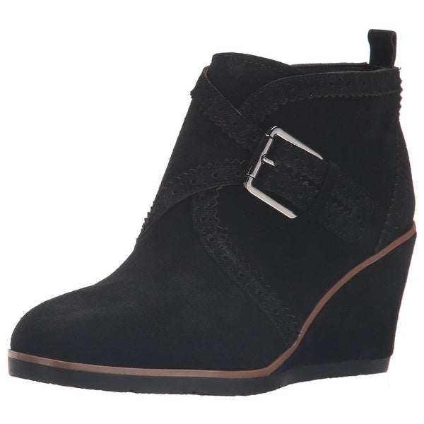 Franco Sarto Womens Arielle Leather Closed Toe Ankle Fashion Boots