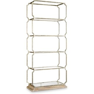 Hooker Furniture 638-50270 32 Inch Wide Cast Iron and Glass Shelving Unit from t