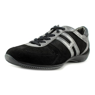 Hogan NEW TECH-1 LACE UP Round Toe Suede Sneakers