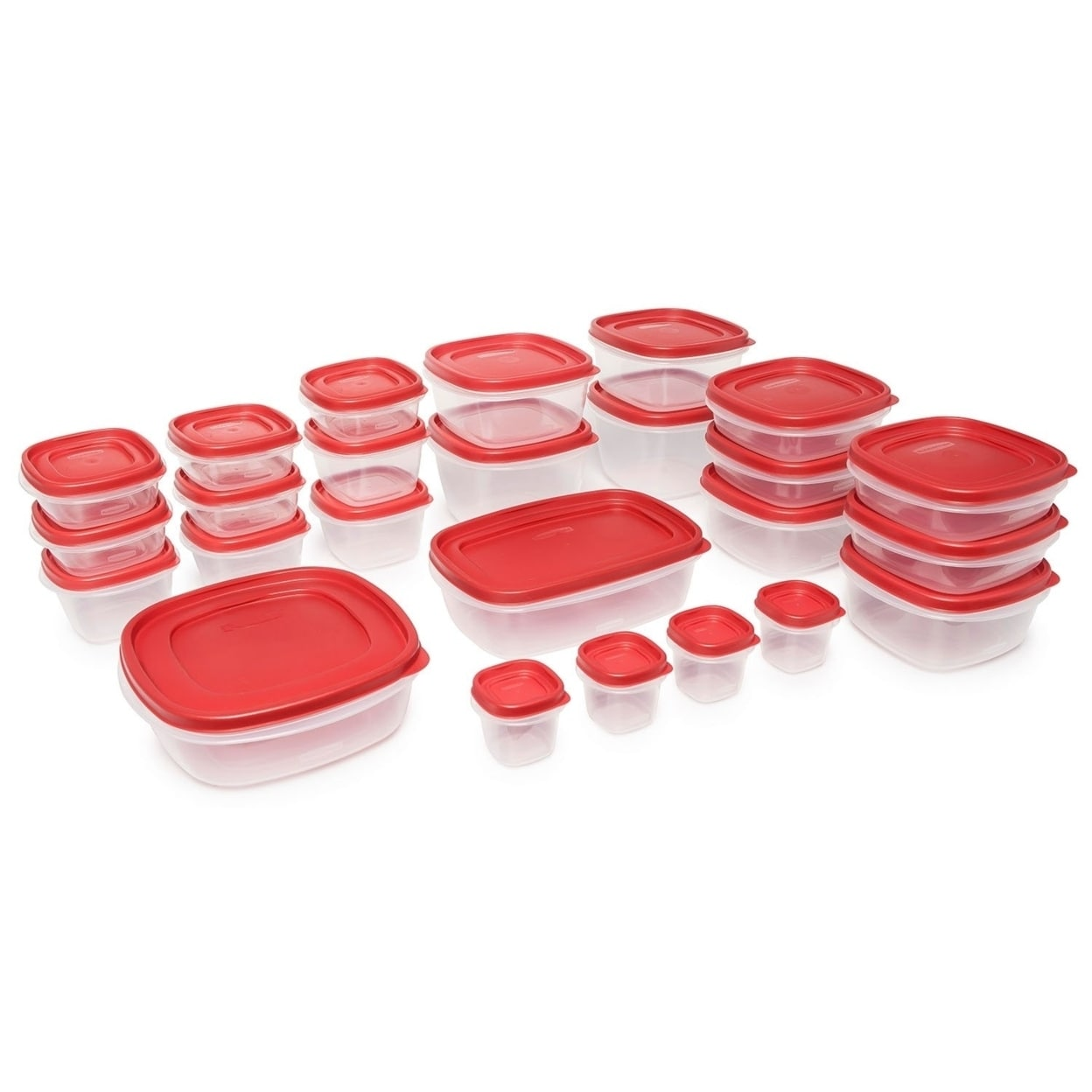 4 Rubbermaid Easy Find Lids Food Storage and Organization Containers Set of 20