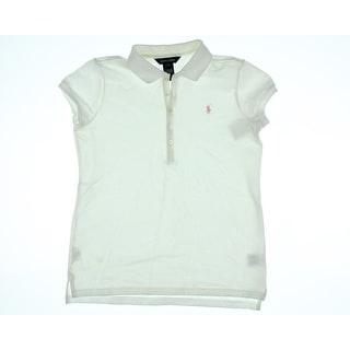 Ralph Lauren Girls Pique Short Sleeves Polo Top