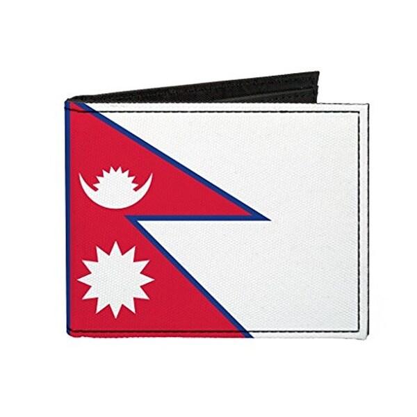 Buckle-Down Canvas Bi-fold Wallet - Nepal Flag Accessory
