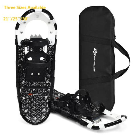 Goplus 21''/25''/30'' Lightweight Aluminum All Terrain Snow Shoes