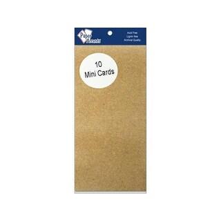 Mini Cards 2.5x5 10pc Brown Bag
