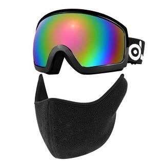 ODOLAND Ski Goggles with Ski Mask for Adult, Double Anti-Fog Lenses with UV400 Protection, OTG S2 Goggles
