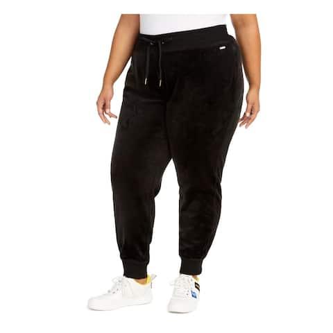 CALVIN KLEIN Womens Black Lounge Active Wear Pants Size 0X