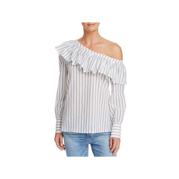 e6c4e170dbf Shop Paige Womens Hasley Blouse One Shoulder Ruffled - Free Shipping ...