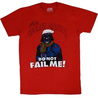 Star Wars Darth Vader Secret Santa Fail Men's Red Crew Shirt