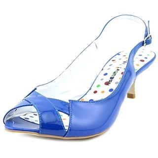 Chinese Laundry Hilary Women Open-Toe Patent Leather Blue Slingback Sandal