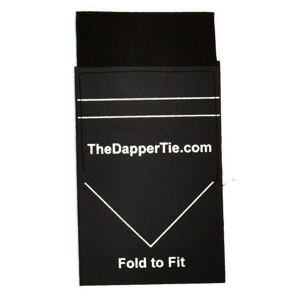 TheDapperTie - Men's Solid Flat Pre Folded Pocket Square on Card - regular